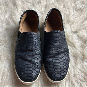 Anthropologie Jolie Kidmore Black Croc Slip On 39